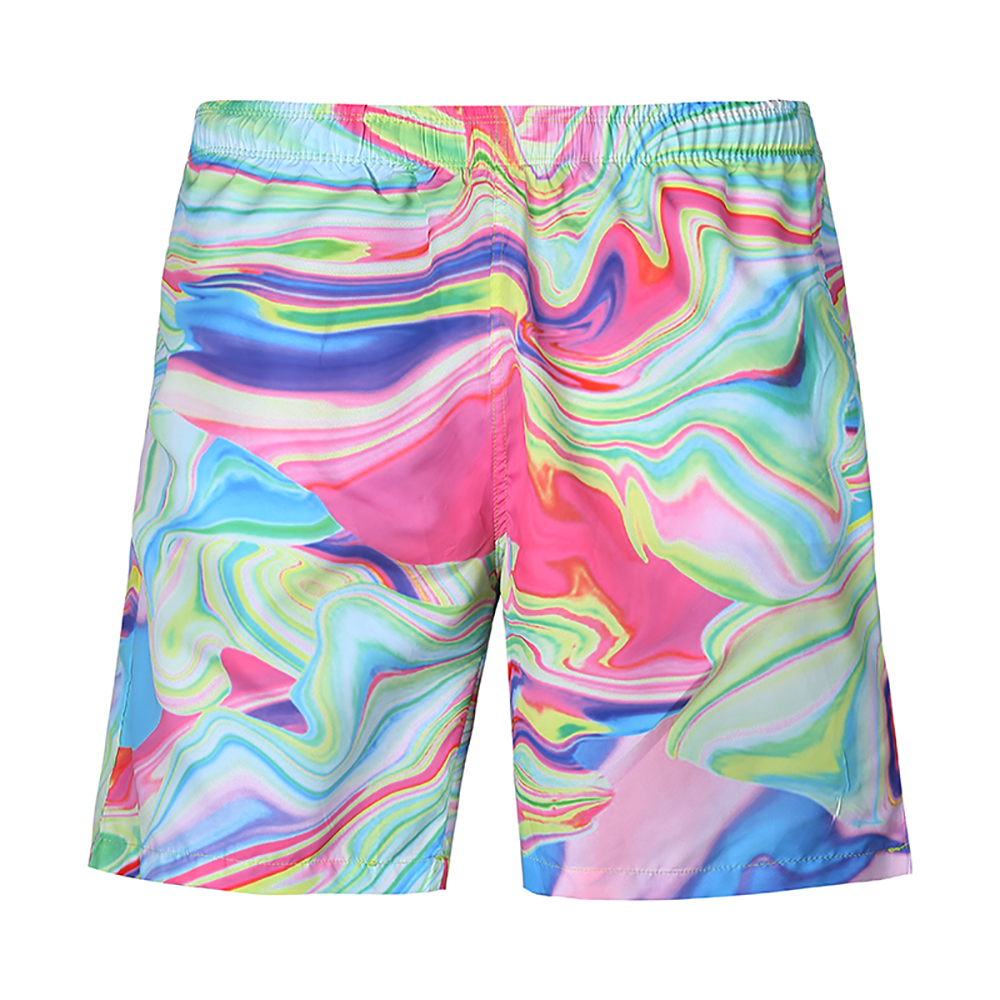 New Quick Dry Surfing Men's   Board     Shorts   Pockets Mesh Lining Liner Patchwork Beach Swimming   Short   Sport Workout   Shorts   Male