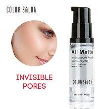 Color Salon Base Primer Makeup 6ml Liquid Matte Make Up Fine Lines Oil-control Facial Cream Brighten Nude Foundation Cosmetic цена