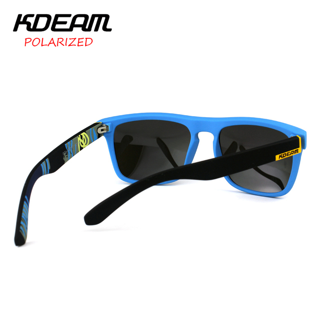 KDEAM Fashion 2018 Summer New Polarized Sunglasses Men Metal Hinges HD Polaroid lens Square Sun Glasses With Original case KD156