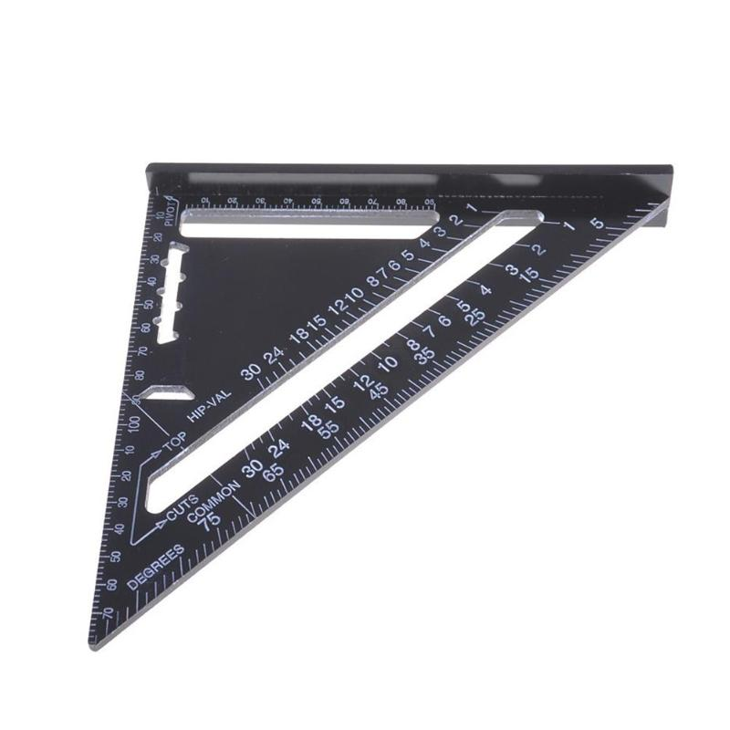 MIRUI 7/12 Inch Triangle Angle Ruler Protractor Woodworking Measurement Tool Quick Read Square Layout Gauge Measuring Tool