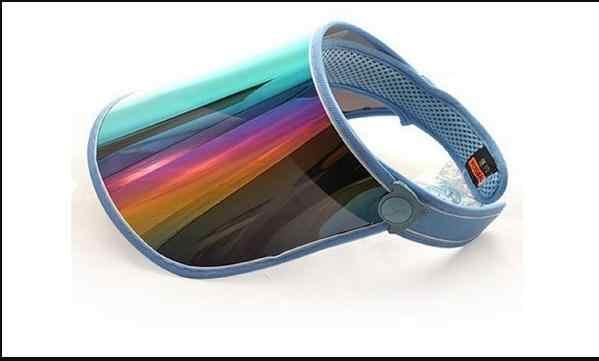 الصيف PVC قبعة الشمس قناع حزب عارضة قبعة واضح البلاستيك الكبار واقية من الشمس كاب