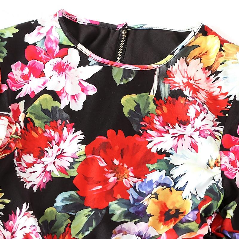 Piste Manches Été Svoryxiu Sexy Multi Gaine Imprimé Élégant Robes Longues Soirée De Vintage Ruché Moulante Floral Femmes Printemps Robe À qRq1rxv5Ew