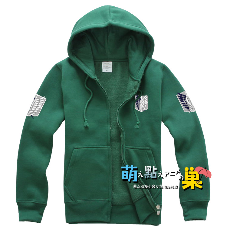Free shipping Anime Shingeki No Kyojin Attack On Titan Cosplay Costume Anime Jacket Scratched Velvet Casual Hoodies Sweatshirt