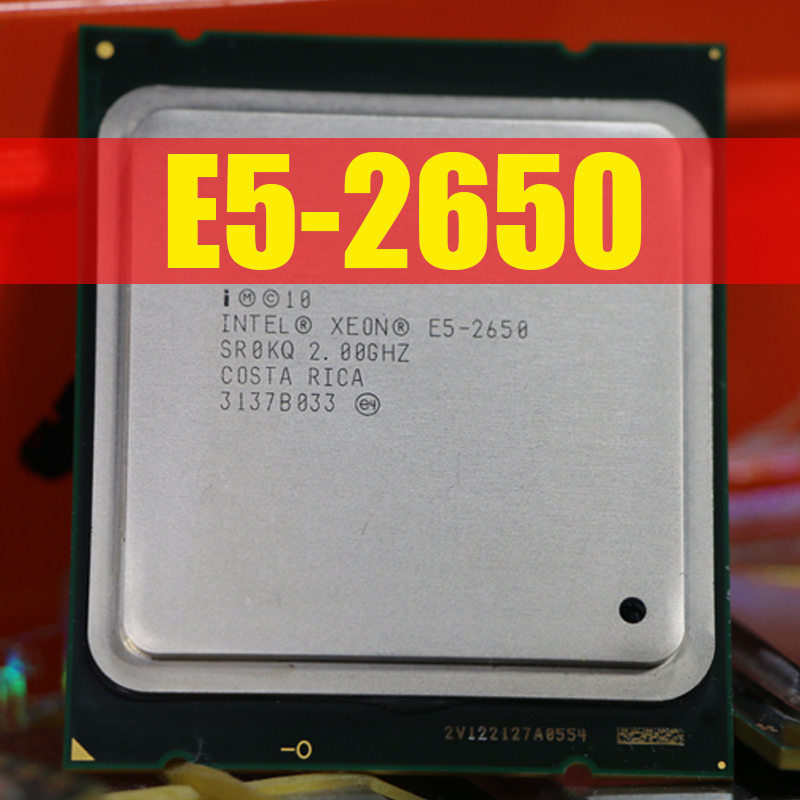 Free Shipping Intel Xeon Processor E5 2650 C2 SR0KQ 20M Cache/2.0/GHz/8.00 GT/s 95W  LGA 2011 E5 2650, sell E5 2670 2660 CPU-in CPUs from Computer & Office    1