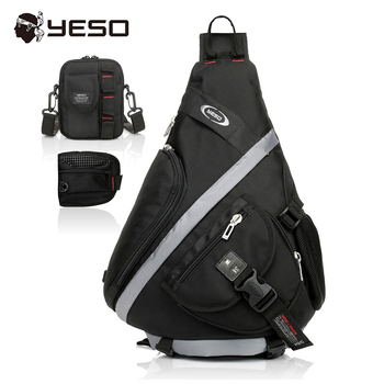 YESO Extra Large Size Chest Bag Multifunction Sling Bag 3 In 1 Men Travel Chest Bags 2019 Waterproof Oxford Casual Shoulder Bag