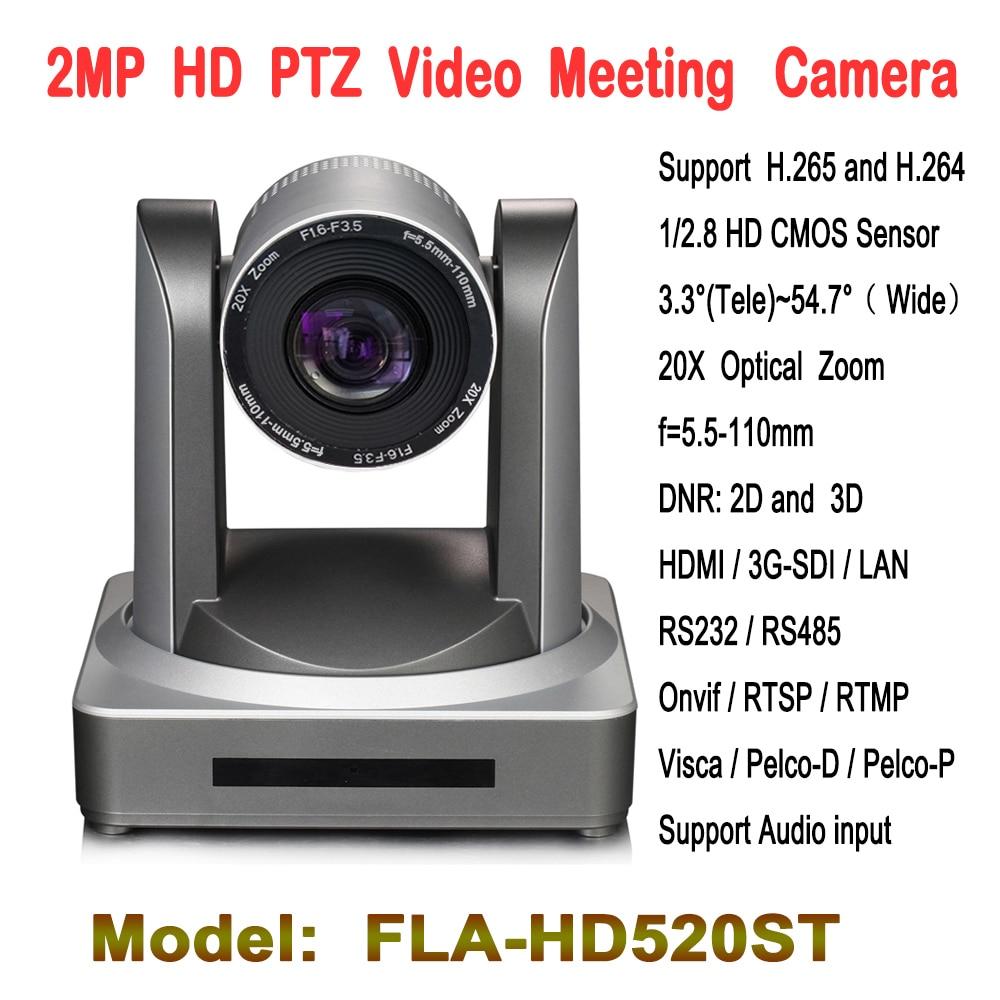 2.0 mégapixels 20x Zoom PTZ caméra de vidéoconférence HD-SDI IP HDMI entrée Audio pour télééducation église télémédecine