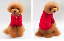 FH14 Newly Autumn Winter Pet dog lapel coats with double pocket Fashion hoodie Sweater clothes for small dog teddy s-xxl