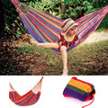 280*80cm High Quality Portable Outdoor Garden Hammock Hang BED Travel Camping Swing Chair Canvas Stripe hamac