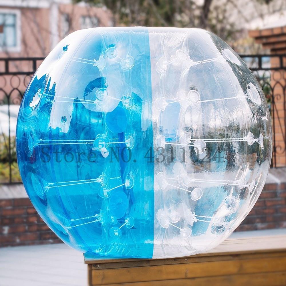 New Design Safty Environmental Protection 0.8mm TPU 1.5m Air Bumper Ball Body Zorb Ball Bubble Football Bubble Soccer Zorb Ball