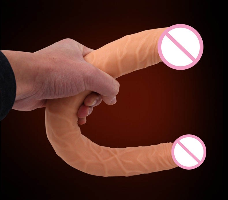 long big double ended dildo woman lesbian dual dong penetration dildos artificial realistic fake penis for women gay sex toys 10