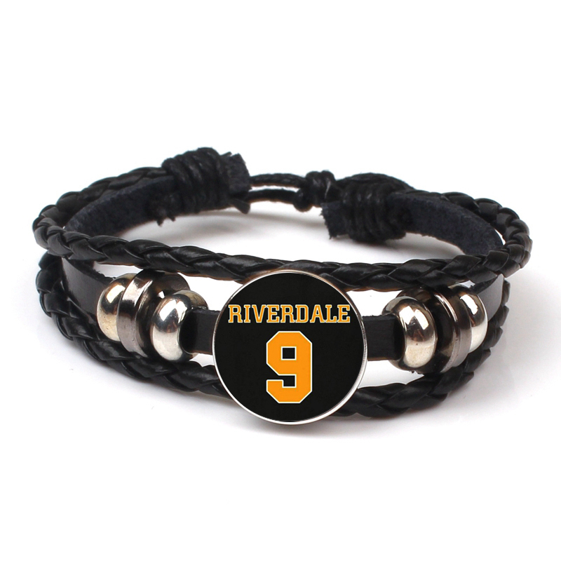 Fashion Arrives Riverdale Multi layer Leather Bracelet Crystal Jewelry Rotating Dome Bracelet Black Bracelet Men Women Souvenirs in Bangles from Jewelry Accessories