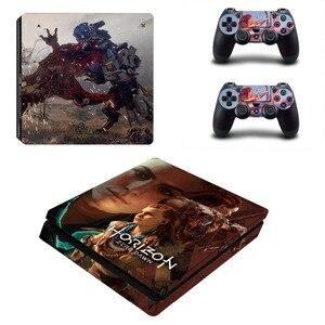 Наклейка Ps4 slim Skins Horizon наклейки Zero Dawn, предназначенные для игровой консоли 4 Slim и 2 контроллера