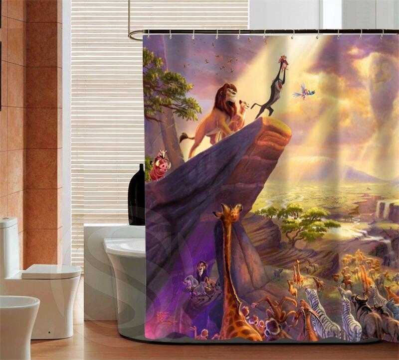 Classic cartoon The Lion King latest custom Shower Curtain Bathroom decor  various sizes Free Shipping MORE. Online Get Cheap Bathroom King  Aliexpress com   Alibaba Group