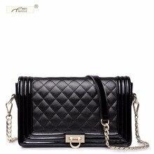 NUCELLE Brand Design Diamond Lattice  Cow Leather Lock Women Lady Shoulder Crossbody Flap Bag