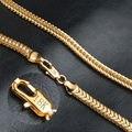 Nueva Moda Collar de Cadena Mujeres de Los Hombres de La Joyería 18 K Oro Verdadero/Platino Plateado Cadenas de Colgante de Acero Inoxidable Al Por Mayor X203