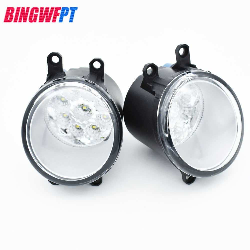 Hot Sale 2pcs Set Left Right Car Styling Round Bumper Fog Lamps Lamp Ps 100 Fe For Toyota Matrix 2009 2013 High Brightness