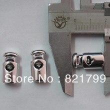 Длинный баррель фиксатор для одежды черная пробка покрытие серебряный стоппер кнопка