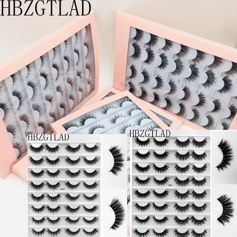 16 Pairs Multipack 3D Soft Mink Hair False Eyelashes Handmade Wispy Fluffy Long Lashes Natural Eye Makeup Tools Faux Eye Lashes