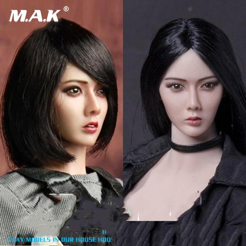 1/6 Scale Asia Female Short Black Hair Head Sculpt Long hair Xiu Girl Head Model F 12 HT Female Suntan Colo Action Figure Doll спортивный костюм xiu xiu meng gu 2015
