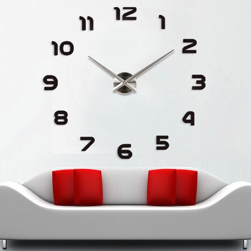 Μεγάλα ρολόγια ρολογιών τοίχου horloge 3d - Διακόσμηση σπιτιού - Φωτογραφία 2