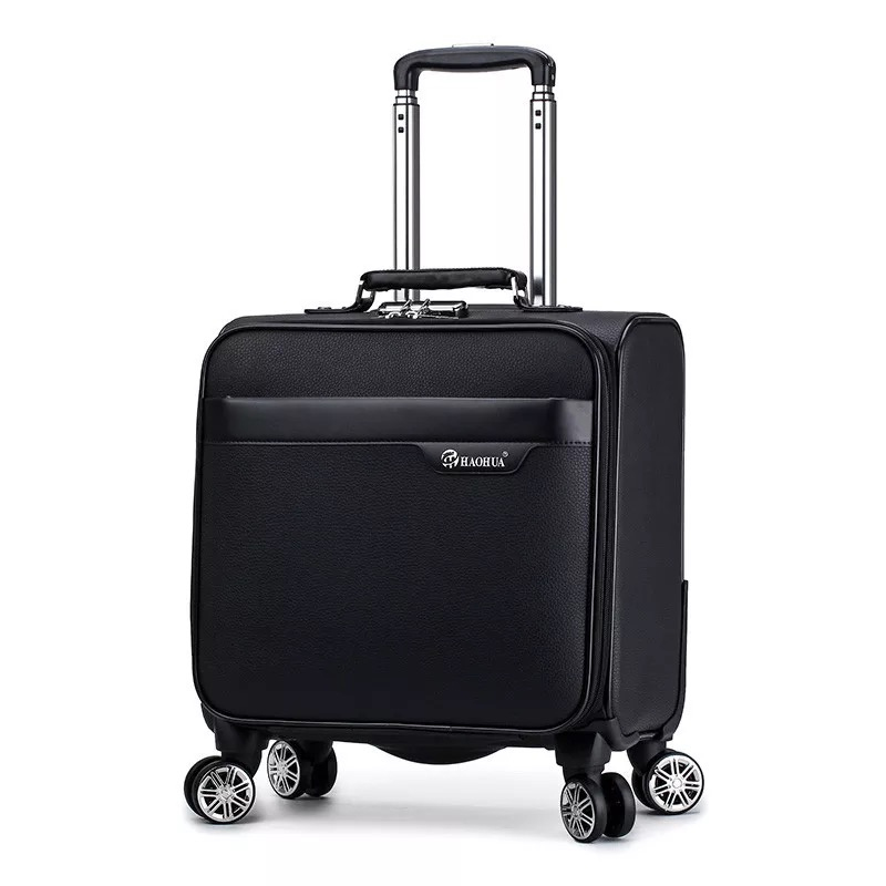 Trolley Suitcase Mala Travel-Bag Stripe Spinner Rolling-Luggage-Bag Retro 18inch Brand