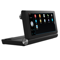 Genuine T18 WIFI 7 HD 1080P Car Dual Camera Rear View DVR Recorder With GPS Navigator Built in Mic And Speaker Support FM TF