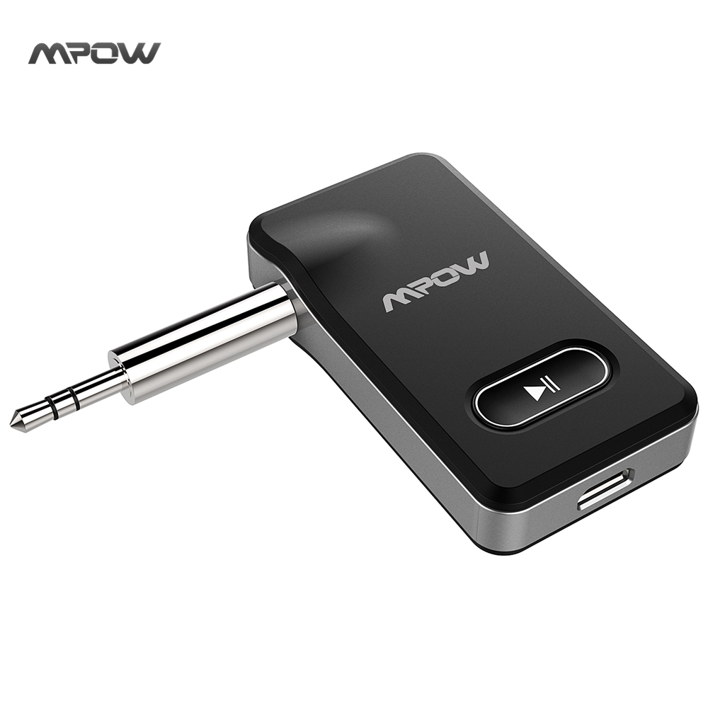 MPOW 2017 New 2-in-1 Bluetooth 4.1 Receiver Car Locator Hands-free Car Kits & Wireless Music Adapter for Car Audio Stereo System