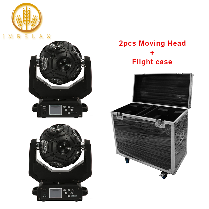 IMRELAX 2pcs 12 20W RGBW 4in1 LED Disco Ball Light Infinite Rotation Disco Party Stage Light