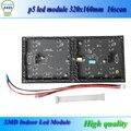 P5 из светодиодов модуль smd крытый fullcolor 320 мм * 160 мм 64x32dots высокого разрешения из светодиодов модуль матричный дисплей dhl - бесплатная доставка