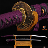 Authentic Japanese Samurai Sword Clay Tempered Double Groove light Blade Sharp