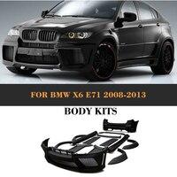 Черный Праймеры frp Средства ухода за кожей комплект Наборы с выхлопных газов для BMW X6 E71 внедорожник 4 двери 2008 2013 xdrive35i xDrive50i автомобиль Интим