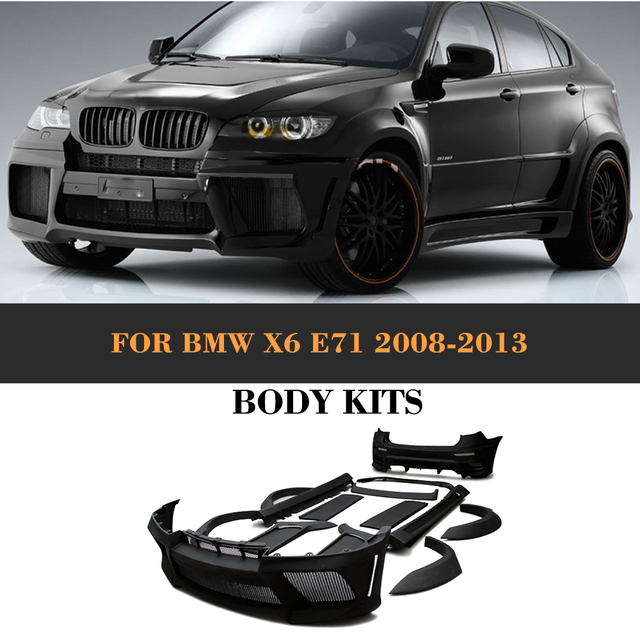 Bmw X6 Xdrive50i: Black Primer FRP Body Kit Kits With Exhaust For BMW X6 E71