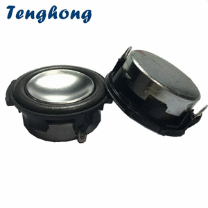 Image 1 - Tenghong 2pcs 1.25 Inch 31MM Mini Speakers 1 Inch 4 Ohm 8Ohm 3W Audio Portable Full Range Round Loudspeaker Multimedia Music DIY