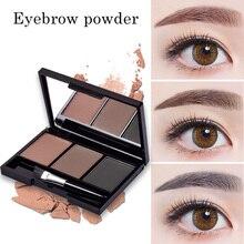 CHANCCI Alis Powder 3 Warna Eye brow Powder Palette Waterproof dan Smudge Proof Dengan Cermin sebuah Alis Brushes Inside