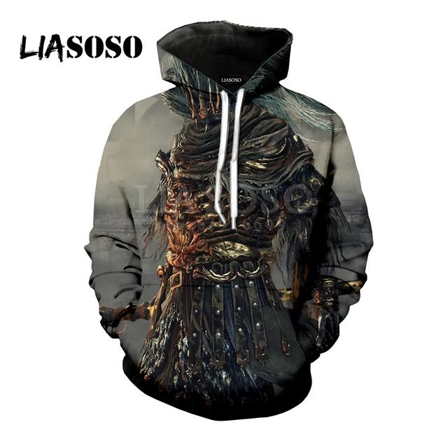 LIASOSO NEW Game Dark Souls 1 2 3 Praise The Sun shirts 3D Print t shirt/Hoodie/Sweatshirt Unisex Hipster Funny Cool Tops G1361