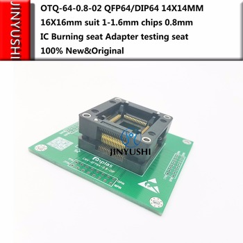 Opentop OTQ-64-0.8-02 QFP64/DIP64 ENPLAS 14*14MM 16*16mm suit 1-1.6mm chips 0.8mm IC Burning seat Adapter test Socket test bench
