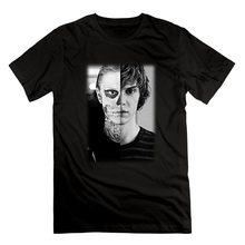 Camiseta con estampado de Evan Peters para hombre, camisa divertida con estampado de Calavera, Ahs, Roanoke, estilo Hipster Harajuku, ropa de calle de verano