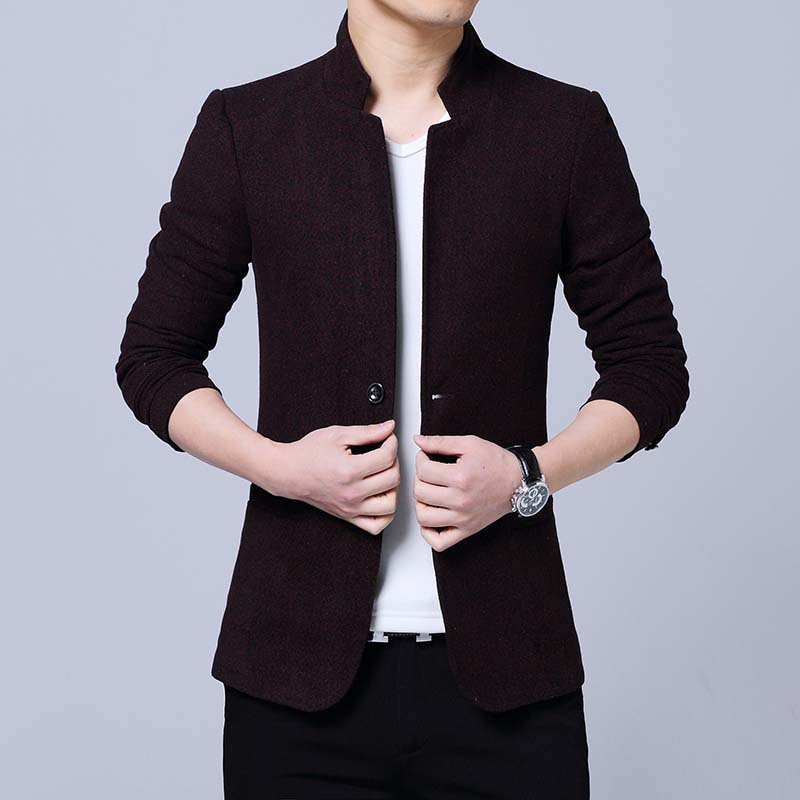 2020 New Men Blazers 4XL 5XL Spring Stand Collor Male Slim Fat Business Casual Blazer Coat Men Brand Outwear Jacket BF920