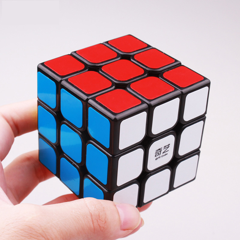 QIYI 3x3x3 5.7CM Speed Magic Cube Professional Puzzle Neo Cubo Magico Sticker Toys For Children Adult Education Toy(China)