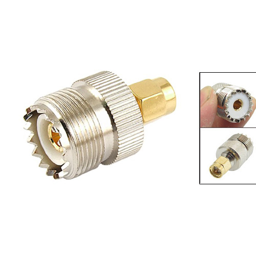 THGS Hot Sale UHF SO-239 SO239 Female to SMA Male Plug Connector Coaxial Adapter rp sma female to y type 2x ip 9 ms156 male splitter combiner cable pigtail rg316 one sma point 2 ms156 connector for lte yota