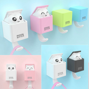 Cartoon Cat Key Hook Hanger Wa