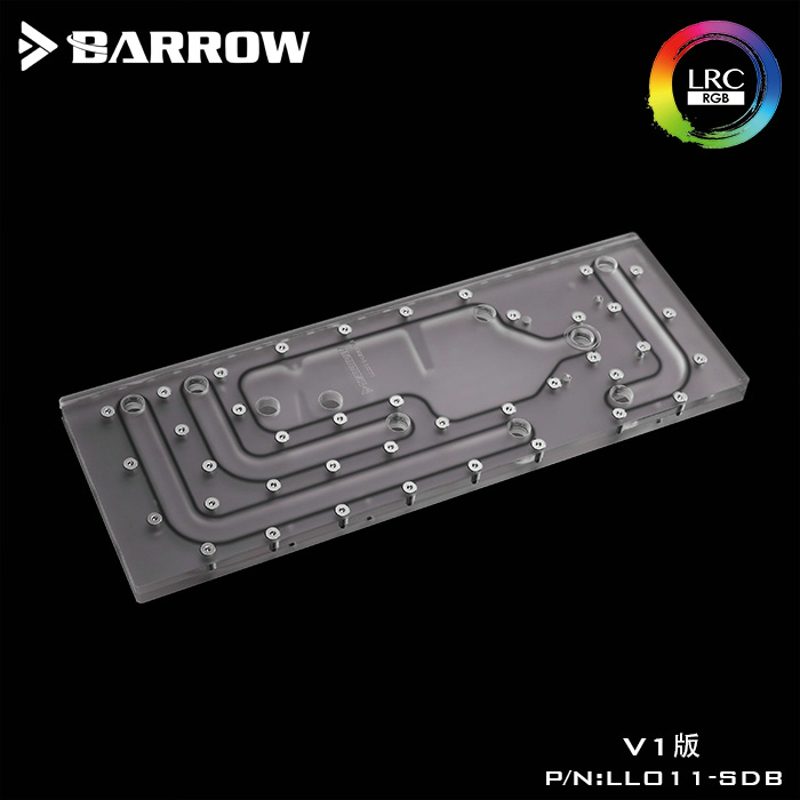 Barrow LLO11-SDBV1 Waterway Boards For Lian Li PC-O11 Dynamic Case For Intel CPU Water Block & Single GPU Building
