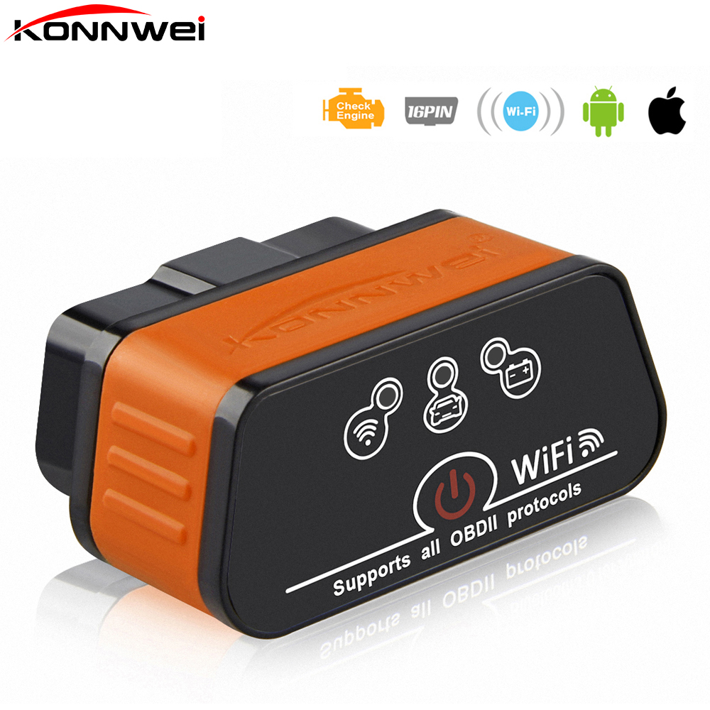 цена на iCar2 ELM327 V1.5 OBD2 Auto Scanner iCar 2 WIFI mini elm 327 OBDII Diagnostic tool adapter for android and IOS code reader Tool