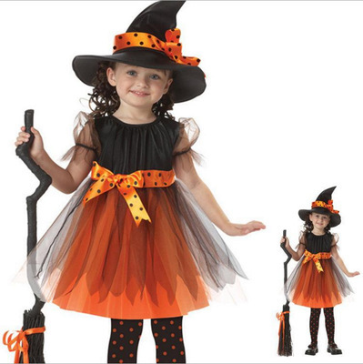 Christmas Kid Child Dress Cosplay clothes Halloween children clothes witch elsa costumes dress kids toddler vestidos nina 12 T