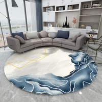 Nordic Style Round Carpet Mats For Home Living Room Rugs Study Computer Chair Mat Polypropylene Carpet Bedroom Thick Round Rugs