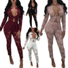 Hot Sell 2017 Women Two Piece Set Female Winter Tracksuit Lace Top Lace Pants Ladies Long