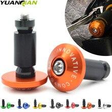 Universal 7/822 CNC motorcycle handlebar cap motocross handle bar grips ends for yamaha yz yzf ktm 250 exc Kawasaki z800 z750