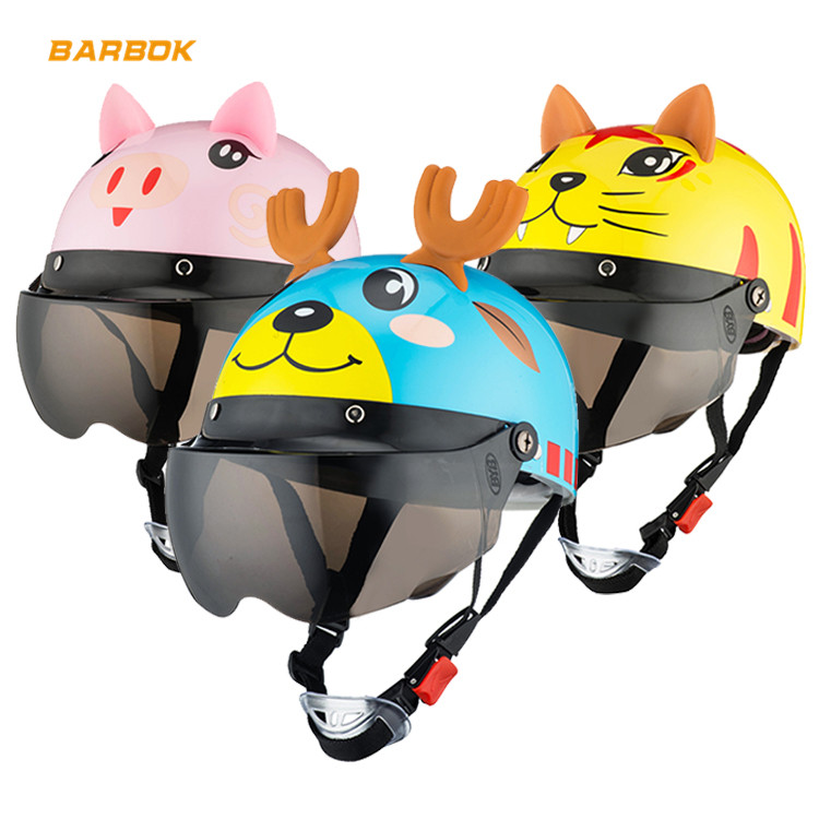 Unisex Flip Up Motorcycles Helmets for 3 10 Years Child Riding Snowboard Banlance Bike Scooter Motorbike Back Seat Safety Helmet-in Helmets from Automobiles & Motorcycles