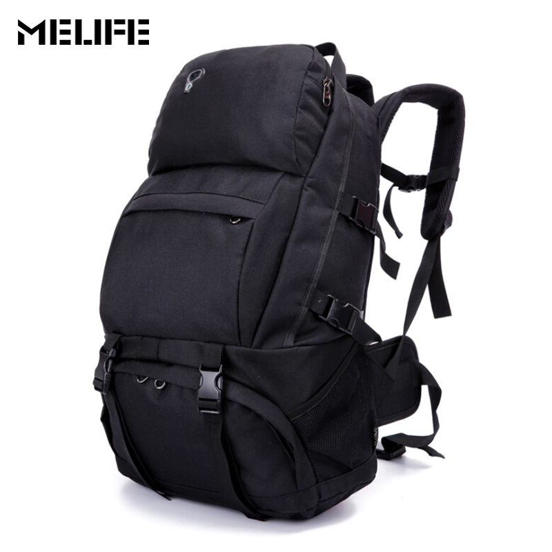 MELIFE Travel Climbing Bag Waterproof Polyester Material Unisex Outdoor Backpack Mountain Camping Hiking Rucksack for Men Women blog flashlight outdoor 5led pocket strong waterproof 8 hours to illuminate mountain climbing camping p004