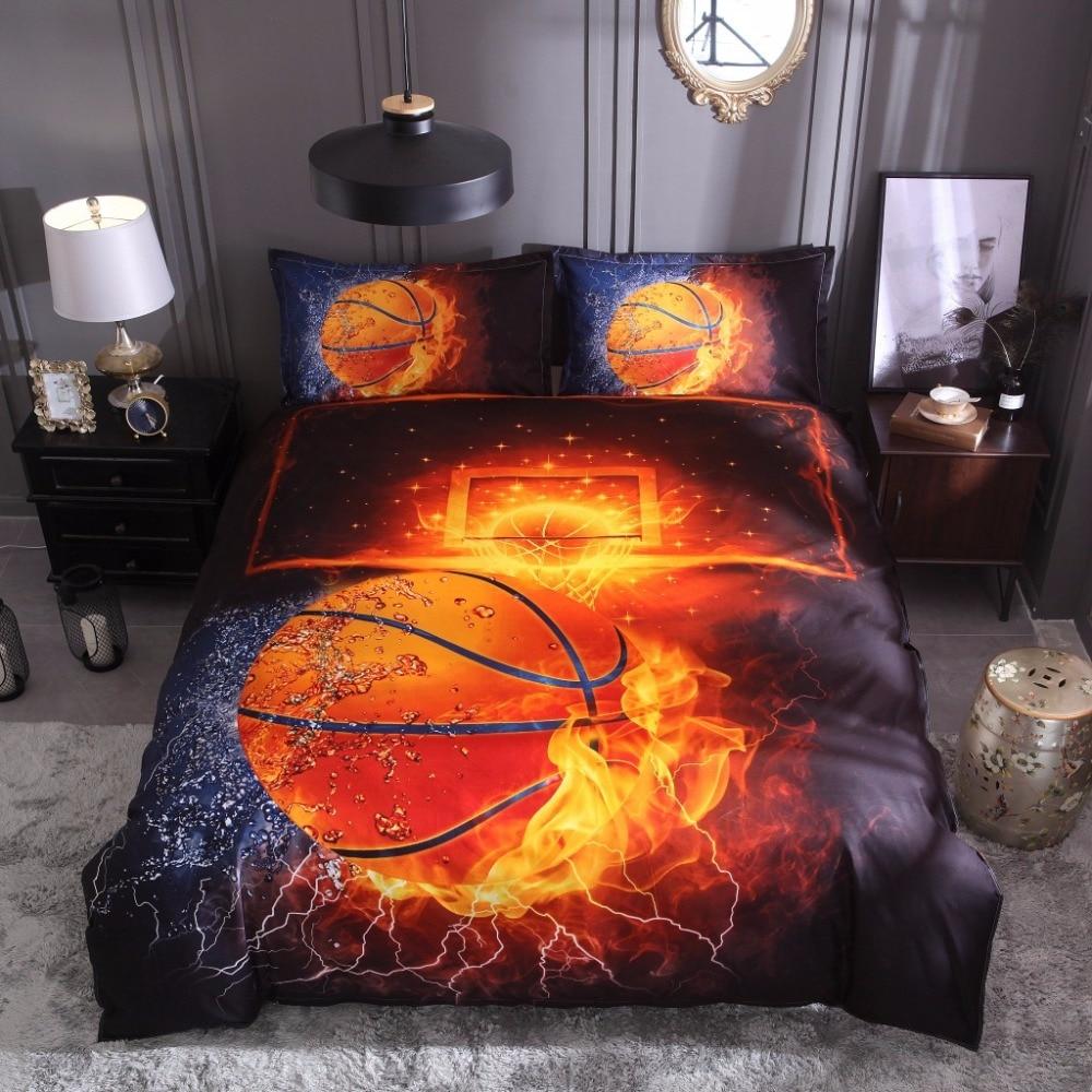 3d Football Duvet Cover Pillowcase No Sheet Basketball 3d Bed